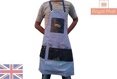 Professional Synthetic Hairdressing Barber Apron Barber Hair stylist Blue lines