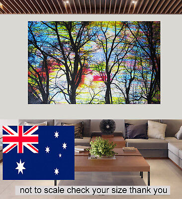 Rainbow Tree Forest  Art Print Painting Poster Unframed Wall Picture Home Decor