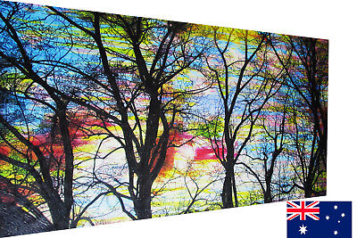 Rainbow-Tree-Forest-Art-Print-Painting-Poster-framed
