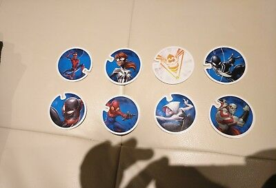 Lote 7 tazos MARVEL FLIZZ carrefour