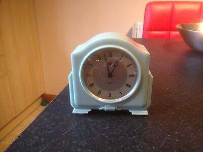 smith sectric electric 1930s 1940s bakelite clock rare blue