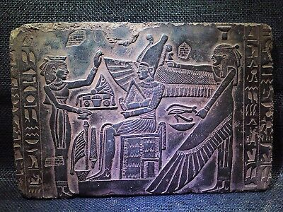 EGYPTIAN ANTIQUES ANTIQUITIES Resurrection Of Osiris Stela Relief 2686-2181 BCE