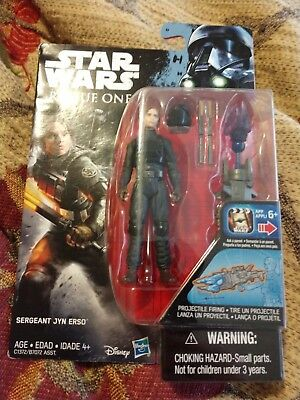 Star Wars Rogue One Jyn Erso in Imperial Ground Crew Disguise 3.75 inch MISB