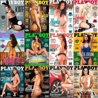 Playboy Mexico 2014 Complete Full Year HOT & SEXY! Lot of 12 Issues