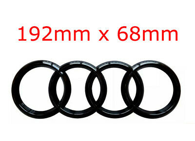 Audi Front & Rear Badges Rings Logo Custom Colour Grille Boot A3 A4 A5 A6 A7
