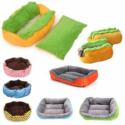 Soft Pet Cat Dog Puppy Bed Fleece Warm House Nest Mat Pad Cushion Kennel KU