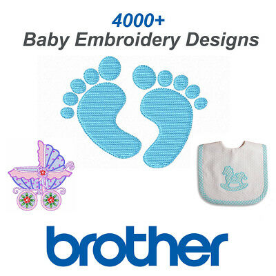 Baby Embroidery Designs 4000+ PES / Brother Format on CD