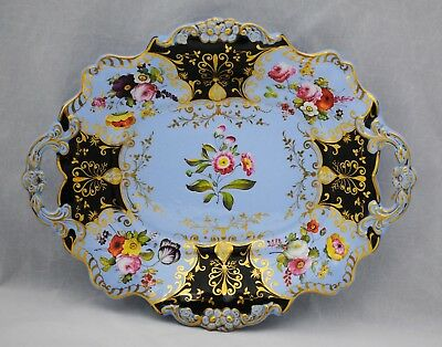 Antique Early 19th Century English Ceramic Plate Floral Decoration
