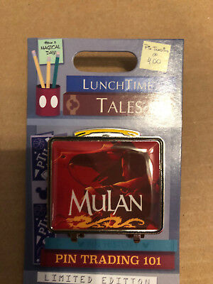 Disney Parks WDW Pin of the Month December Lunch Time Tales Mulan Pin LE 1500
