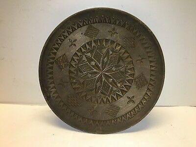 Antique Chip Carved Wood Plate - Late 19th to Early 20th Century - Free Shipping
