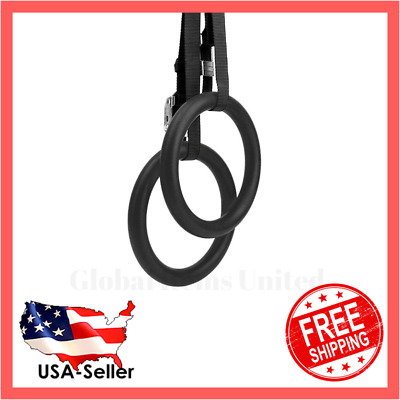 Calisthenics Gymnastic Rings with Adjustable Straps, Metal Buckles | New