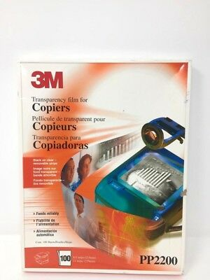 3M Transparency Film For Copiers PP2200 100 Sheets 8.5 x 11