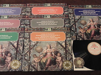 7 LP Beethoven Hungary String Quartets W/G Columbia SMC Germany 60s | M- to EX