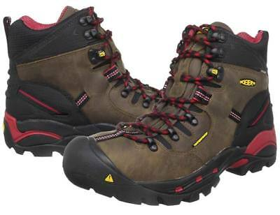 "New Mens Keen Utility Pittsburgh 6"" Steel Toe Work Boots Size 11 Waterproof"