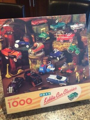 Hallmark Kiddie Car Classics 1000 pc PUZZLE by Springbok Sealed PZL6190 (217)