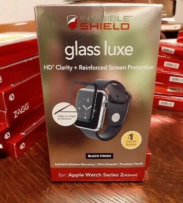 """ZAGG Invisible Shield """"Glass Luxe"""" Screen Protector Apple Watch Series 2 - 42 mm"""