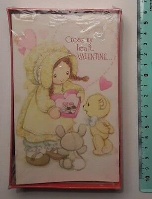 Holly Hobbie 12 Valentine Cards - American Greetings - Imballato  - '70 Vintage