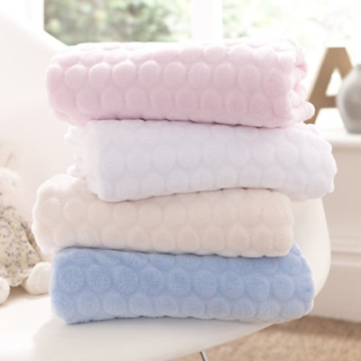 Clair de Lune Marshmallow Baby Blanket (White)