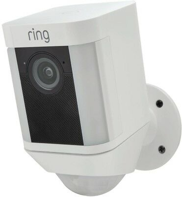 Ring Spotlight Cam Battery Outdoor Security Surveillance Camera Wireless White