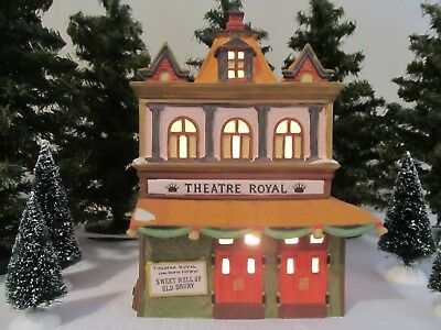 Dept 56 Dickens' Village Series Theatre Royal 1989  #55840  Retired - Mint