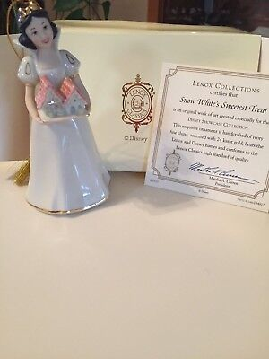 LENOX COLLECTIBLE Snow White SWEETEST TREAT ORNAMENT NIB