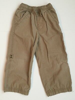 TCP The Children's Place Khaki Pants Elastic Adjustable Waist Toddler Boys Sz 3T