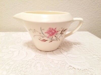Antique Ivory Porcelain Creamer Pink Roses Made in USA