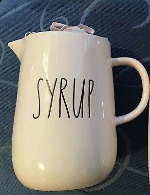 """Authentic Rae Dunn BNWOT LL """"SYRUP"""" Pitcher Canadian Exclusive HTF RARE"""