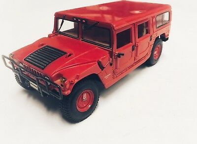 1/18 1:18 Scale Maisto Red Hummer H1 Die Cast SUV Vehicle Toy