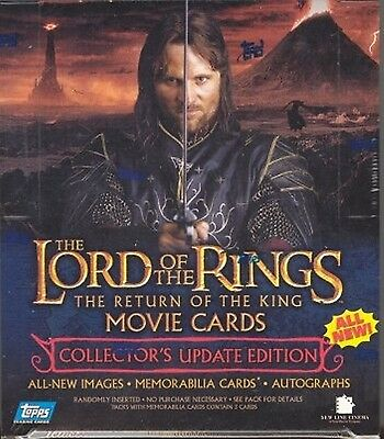 Lord of the Rings Return of the King Update Hobby Box LOTR 2 BOXES per order