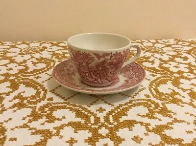 1970's Broadhurst Ironside (pink) Cup And Saucer