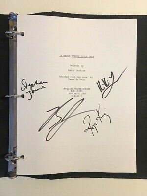 IF BEALE STREET COULD TALK Movie Hand Signed Script FYC Best Original Screenplay