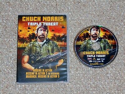 Chuck Norris Triple Threat: Missing in Action 1, 2 & 3 DVD 2017 Shout Factory