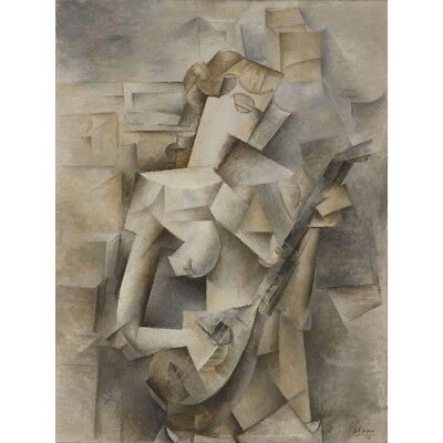 Girl With Mandolin Pablo Picasso HD Canvas Art Print Oil Painting Decor #M153