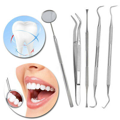 NEW Professional Dental Oral Hygiene Kit 5 Tools Deep Cleaning Scaler Teeth Care