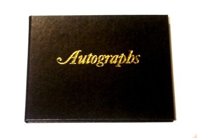 Cumberland Black Autograph Book Coloured Pages 80 Page 105 x 145mm 58540