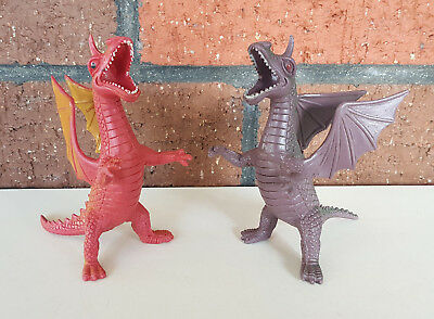 Vintage Dragons Figures x2 Chinasaur d&d monster - MOTU Galaxy Warrior