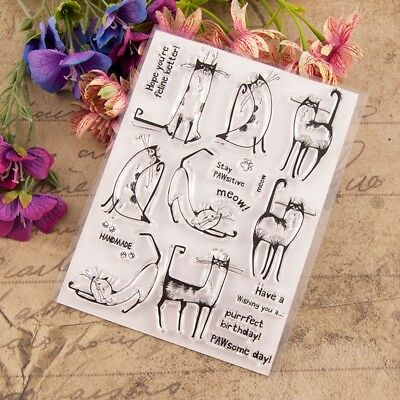 Cute Reindeer Transparent Silicone Clear Rubber Stamp Diary Scrapbooking CG