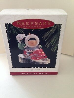 Frosty Friends 1995 Ornament in Box, EX condition