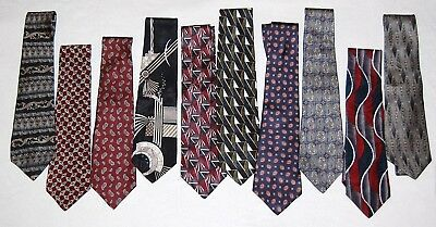 Mens neck tie lot*Brand new vintage/retro tie lot of 10 from ROSS with tags