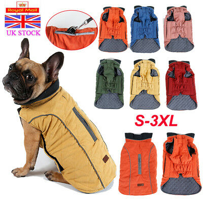 Pet Windproof Winter Harness Vest Coat Jacket Warm Dog Clothes For Puppy Dog