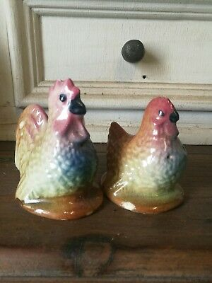 Vintage Salt And Pepper Shakers. Chickens..