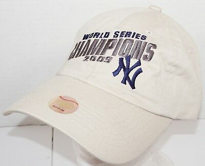 175b560d32e New York Yankees Champions 2009 Hat - One Size Adjustable Beige Slouch Cap  New
