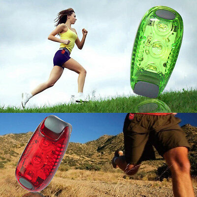 LED Light Up Safety Clip on Running Jogging Night Bike Bicycle Rear Light Lamp
