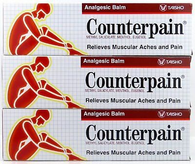 3x 120g COUNTERPAIN Muscle Pain Cream Warm Analgesic Relief Tension Inflammation
