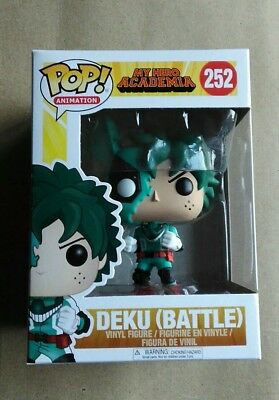 Funko Pop Deku Battle 252 My Hero Academia Figure Rare Toy w/ pop protector Gift