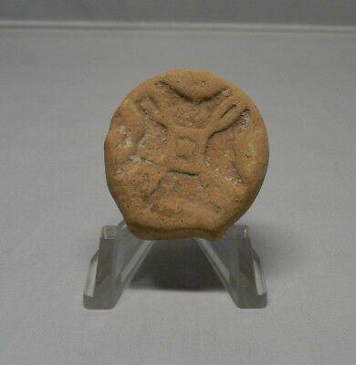 Ancient terracotta Holyland Stamp seal.