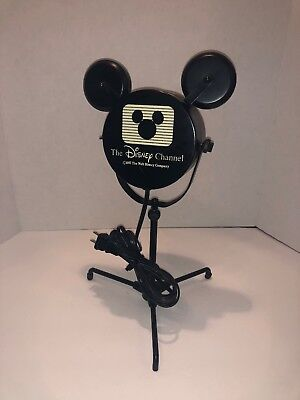 RARE Disney Channel's Search For The Stars Mickey Mouse Film Reel Stage Lamp