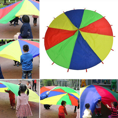 2M/3M Kid Play Rainbow Parachute Outdoor Game Exercise Sport Group Activities