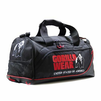 Gorilla Wear Jerome Gym Bag Black/Red